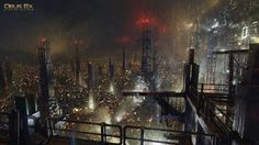 """Night in Golem City"" by Frédéric Bennett"