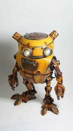 See how Paul Braddock created Eddie, the amazing printed steampunk robot Robots Steampunk, Arte Steampunk, Steampunk Couture, Steampunk House, Steampunk Lamp, Arte Robot, Robot Art, Diy Robot, Conception Robot