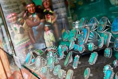 turquoise jewelry native american | greg-thorne-turquoise-jewelry-native-american-statues-rings-decorated ...