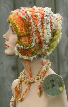 Good Morning Samfreeform crochet hat OOAK by girlwithahook on Etsy, $150.00