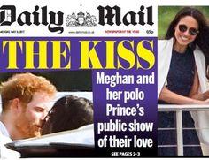 O flagra do primeiro beijo do Príncipe Harry na nova namorada foi publicado no 'Daily Mail' (Foto: Reprodução)