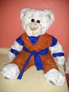 Handmade Son-Goku cosplay for my teddy bear :)