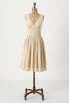 Call me crazy but with a smidge of modesty added, I think this would be a pretty casual wedding dress.