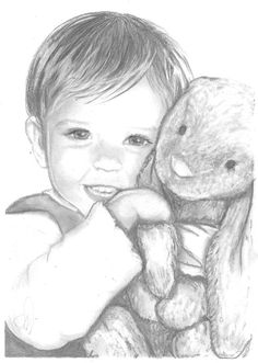 Custom Pencil Portrait from Photo- contact Pandalana at VisionaryArtStudio on Etsy for your very own adorable picture!!