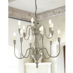 """Been lately diggin' on wooden chandeliers for our dream mountain home - natural w/o being """"lodge"""" or """"cabin."""""""