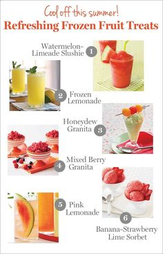 Cool off with these refreshing frozen treats (click for the recipes!)
