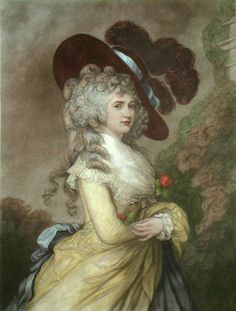 Georgiana Cavendish (née Spencer), Duchess of Devonshire - Thomas Gainsborough Thomas Gainsborough, Duchesse De Devonshire, Georgiana Duchess Of Devonshire, Duchess Georgiana, Georgiana Cavendish, 18th Century Fashion, Chef D Oeuvre, Louis Xvi, Historical Costume