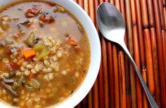 Portobello Mushroom and Barley Soup for the pressure cooker