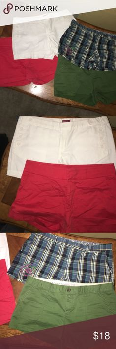 Bundle of four size 16 shorts Ladies Bundle of 4 size 16 shorts. All are in good condition Shorts
