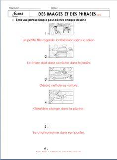des images et des phrases:exercices d'entrainement a la production ecrite avec correction pour 3eme degré
