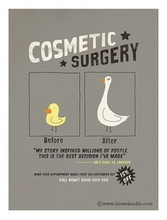 Cosmetic surgery- bird edition