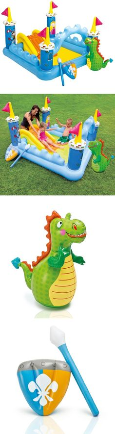 Inflatable and Kid Pools 116407: Play Center Kiddie Pool Intex Fantasy Castle Inflatable Water Slide Toddler 2+ -> BUY IT NOW ONLY: $44.99 on eBay!