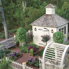 WOW! What a great garden space including the shed