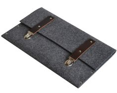 MacBook 13 Air cover sleeve case grey felt bag from HAPPER by DaWanda.com