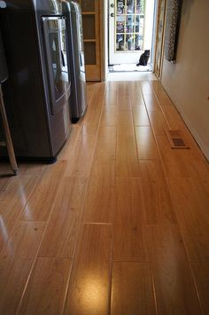 BuildDirect – Ceramic Tile - American Wood Series – Wheat Oak - Hallway View $1.55 sq ft