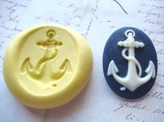 ANCHOR with ROPE - 40mm x 30mm - Flexible Silicone Mold - Push Mold, Jewelry Mold, Polymer Clay Mold, Resin Mold, Craft Mold, PMC Mold on Etsy, $7.00