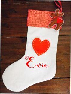 Calico Christmas Stocking - Star or Heart and Decoration Santa Sack, Santas Workshop, Big Day, Christmas Stockings, Stars, Decoration, Holiday Decor, Celebrations, Gifts