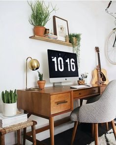 Desk, chair, lamp from West Elm | the workspace stylist