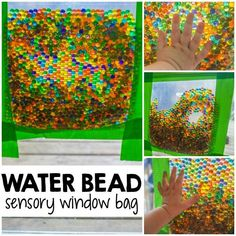 This water bead sensory bag is one of our favorite ways to distract the kids with mess-free play. A perfect solution when you need time to tackle the mess! #SCJMessyMoments