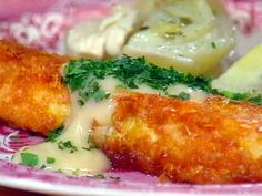 Potato-Crusted Codfish Steaks with Lemon Butter Sauce