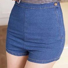 POR ENCOMENDA - Shorts Hot Pant Botão (Várias Cores) - Rocket Queen Store