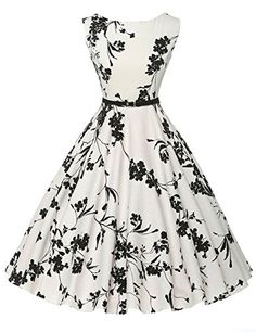 Cheap vestidos plus, Buy Quality dress vestidos directly from China vintage rockabilly dress Suppliers: Women Summer Dress 2017 plus size clothing Audrey hepburn Floral robe Retro Swing Casual Vintage Rockabilly Dresses Vestidos Vintage Tea Dress, Robes Vintage, Vintage Dresses, Vintage Outfits, Vintage Fashion, Vintage Clothing, 50s Vintage, Size Clothing, 1950s Dresses