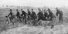Belgian bicycle troops in Haelen, Belgium, August 1914.