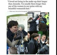 Benedict Cumberbatch and his beautiful womanish hair
