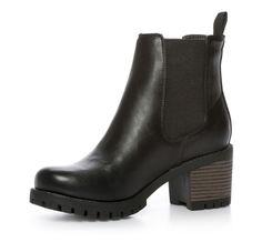Skopunkten Kängor och Boots Varmfodrad boots Skinnimitation Svart