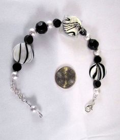 Zebra Swirls Bracelet by SoBayBaubles on Etsy, $8.75