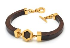 The Branch has unveiled its new Signature collection for SS15, incorporating a fresh offer of hexagonal pieces with the brand's recognisable rosewood adornments. Pieces are finished with silver and yellow gold-plate, while some bangles and bracelets made thinner to tap into the consumer trend for stacking. The brand's new season collection also includes lotus flower designs, spikes, studs and triangles.