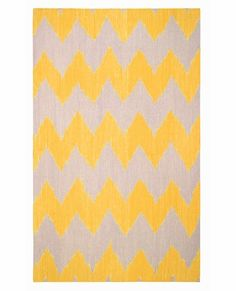 Insignia Rug in Yellow by Capel Rugs, Patterned Rugs, Rugs for Children