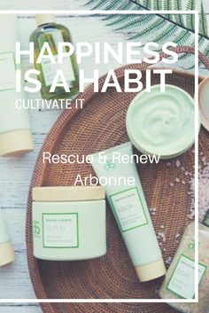 Happiness is a Habit #selfcaredays Arbonne Rescue and Renew Spa range