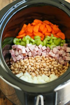 Ham And Beans Crockpot Recipe.Crockpot Ham Green Beans And Potatoes - Recipes 2 Day. Crock Pot Ham And Beans Recipes That Crock! Ham And Bean Soup {Crockpot Version} Spend With Pennies. Home and Family Crock Pot Soup, Crock Pot Cooking, Crock Pot Slow Cooker, Slow Cooker Recipes, Cooking Recipes, Healthy Recipes, Slow Cooker Bean Soup, Zone Recipes, Cooking Corn