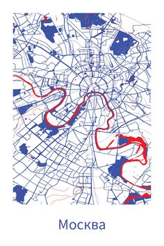 Cool map of Moscow! Source: ræ | nordico