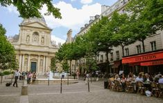 The arrondissement is located on the Left Bank, and is home to the atmospheric St-Germain-des-Pr�s quartier, the Latin Quarter and the Luxembourg Gardens. Luxembourg Gardens, Parisian Cafe, Latin Quarter, Paris Summer, Brick Architecture, White Building, Cool Cafe, Champs Elysees, Chicago Restaurants