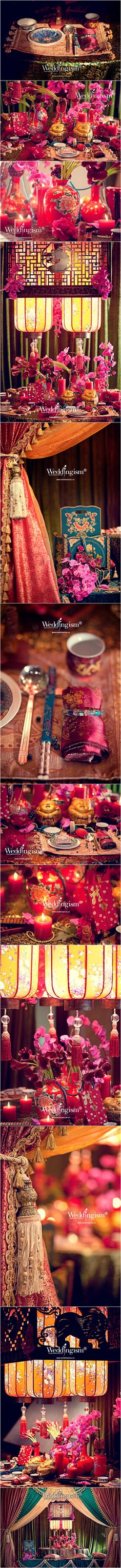Jewel toned Chinese style wedding by 婚礼主义 Weddingism in Shanghai. Seriously love their work