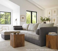 This eco-friendly sofa from Viva Terra will have to be my next sofa. Not only is it great modern styling. It also has two full twin sleepers, perfect for company.