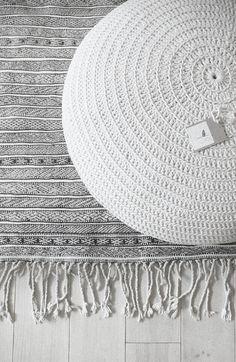 Vintage Beni Ouarain Handira - Moroccan Wedding Rug