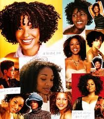 Collage of natural ladies. Love all the styles and textures.