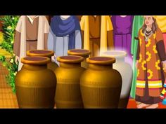 Jesus Turns Water into Wine In The Wedding At Cana ( Bible Cartoon stories for kids in English ) - YouTube