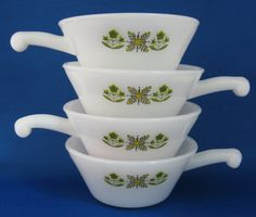 cool retro Meadow Green Fire King bowls! $26.00