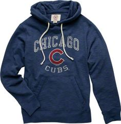 ** Chicago cubs. royal '47 Brand. slugger pulloever hooded sweatshirt. fans edge. size- small