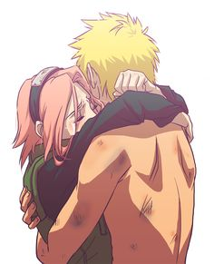 I will never ship Naruto and Sakura because I cannot stand that thought* But I do see this as a Sakura moment caring that Naruto is alive. Like she always does. (BAKABAKA)