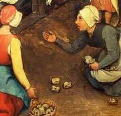 Pieter Bruegel The Elder (Holland Belgium) Renaissance Artists, Renaissance Paintings, High Renaissance, Medieval Games, Medieval Art, Italian Painters, Dutch Painters, Jan Van Eyck, Pieter Brueghel El Viejo