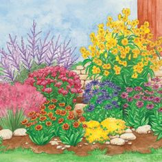 Garden plan from michigan bulb co for a butterfly garden - How to plant a flower garden for dummies ...