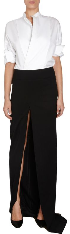 Haider Ackermann Slit Front Long Skirt