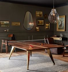 I mean, if you're going to get a ping pong table might as well make is chic A.F.