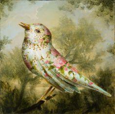 The Teacup Warbler - Kevin Sloan Surrealism Painting, Bird Artwork, Weird Creatures, Weird Art, Kids Prints, Surreal Art, Beautiful Birds, Fantasy Art, Illustration Art