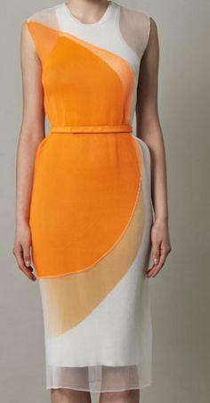Sheer trend- silk organza dress by Stella McCartney